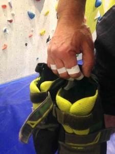 Klettern mit schwitzenden Händen geht gar nicht!